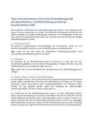 Tipps und Informationen rund um die Weiterbildung ... - Fahrschulen