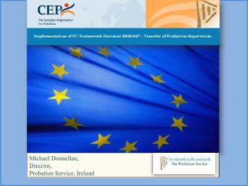 Michael Donnellan - CEP, the European Organisation for Probation