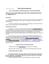 EPSc 352 Earth Materials Write-up is due at the beginning of your ...