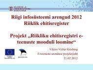 EHR - Riigi Infosüsteemi Amet