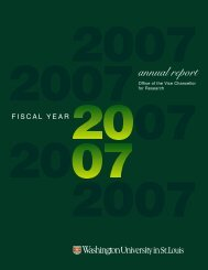 2007 report cover3 - Office of the Vice Chancellor for Research