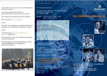 Flyer Militärmusikdienst der Bundeswehr ( PDF , 388 kB)