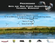 Proceedings of the 2004 Bats and Wind Power Generation ...