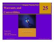 Warrants and Convertibles