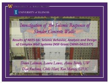 Investigation of the Seismic Response of Slender Concrete ... - PEER