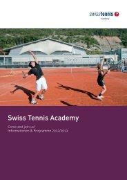 STA-Broschüre - Swiss Tennis