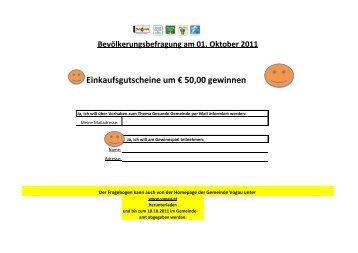 Einkaufsgutscheine um € 50,00 gewinnen - Vogau