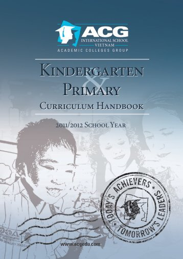 ACG Kindergarten and Primary Curriculum Handbook