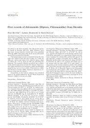 First records of chironomids (Diptera, Chironomidae) from ... - Springer