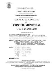 Conseil municipal du 24 avril 2007 - Franconville