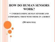 How do Human Sensors Work? - Teach Engineering