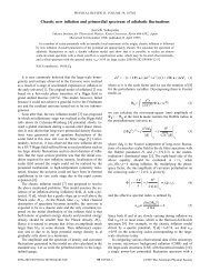 Chaotic new inflation and primordial spectrum of adiabatic ... - iucaa