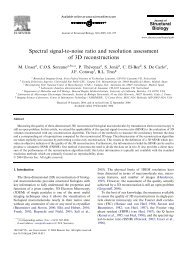 Spectral signal-to-noise ratio and resolution assessment of 3D ...