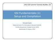 GSI Fundamentals (1) - Developmental Testbed Center