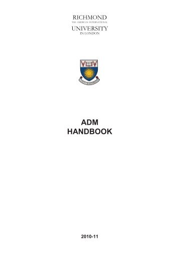 adm handbook - Richmond - The American International University ...