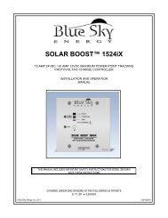 Solar Boost 1524iX Manual - Blue Sky Energy