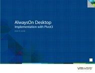 AlwaysOn Desktop Implementation with Pivot3 - VMware