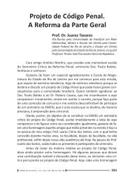 Projeto de Código Penal. A Reforma da Parte Geral - Emerj