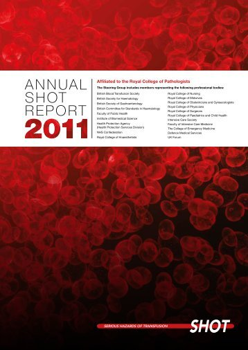 AnnuAl SHOT RepORT - Serious Hazards of Transfusion