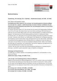 Medientext Hin und weg Teil 1: Amerika - Stadtmuseum Schlössli ...