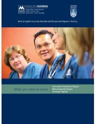 Concurrent Associate/Baccalaureate Degree Nursing Program ...