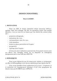 DESSIN INDUSTRIEL - HAL