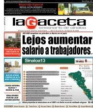Reportaje Especial - SEMANARIO LA GACETA