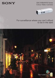 For surveillance where you can't afford to be in the dark