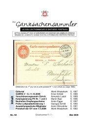 92 - Schweizerischer Ganzsachen-Sammler-Verein