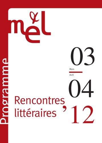 Lire le programme complet des rencontres littéraires au Petit ... - Scam