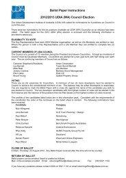 Ballot Paper Instructions 2012/2013 UDIA (WA) Council Election