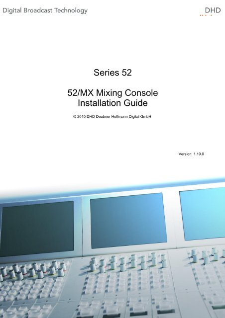 52 mx modular mixing console installation guide dhd audio de