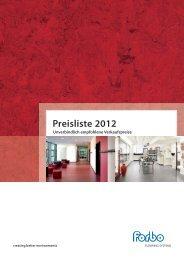 Preisliste 2012 - Forbo