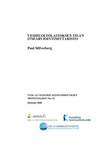 Vesihuoltolaitoksen tilan itsearviointimittaristo - Maa- ja ...