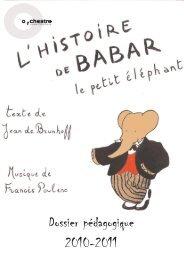 Dossier pédagogique 2010-2011 - Orchestre national d'Ile-de-France