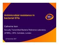 Antimicrobial resistance in bacterial STIs - Events