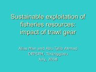 Sustainable exploitation of fisheries resources: impact of ... - Seafdec