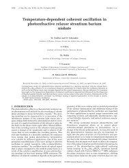 Temperature-dependent coherent oscillation in photorefractive ...