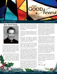 Dear Parish Family, - Saint Basil The Great