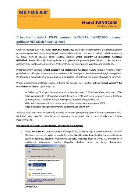 Netgear wnr2000 připojení