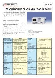 Generador de funciones programable - GF-855 - Promax