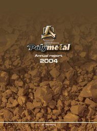 Download 2004 Annual Report - Polymetal