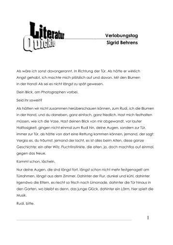 Verlobungstag Sigrid Behrens