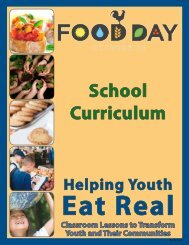 2012 Food Day School Curriculum