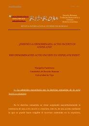 ¿existió la denominada actio incerti ex stipulatu? - logo ridrom ...