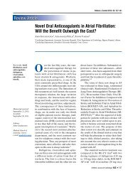 Novel Oral Anticoagulants in Atrial Fibrillation - The Hellenic Journal ...