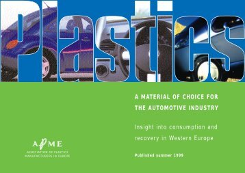 Plastics a material of choice for the automotive industry - insight into ...