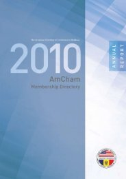 Annual Report 2010 - AmCham Moldova