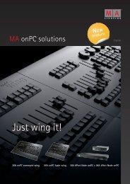 Just wing it! - MA Lighting