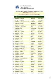 02.01.2013 PROFICIENCY EXAM Results - Okan Üniversitesi